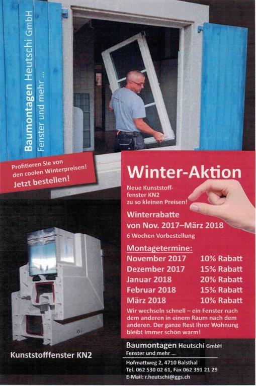 Winter Aktion Baumontagen Heutschi
